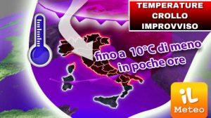 METEO TEMPERATURE in CROLLO INVERNALE IMPROVVISO