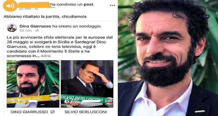 DINO GIARRUSSO(M5S) SFIDA BERLUSCONI: IN SICILIA E SARDEGNA AVRÒ PIÙ VOTI DI LUI