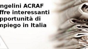 Angelini ACRAF offre interessanti opportunità di impiego in Italia