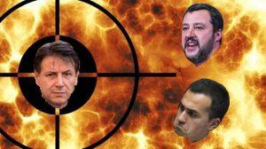 Aria di bufera tra Conte Salvini Di Maio