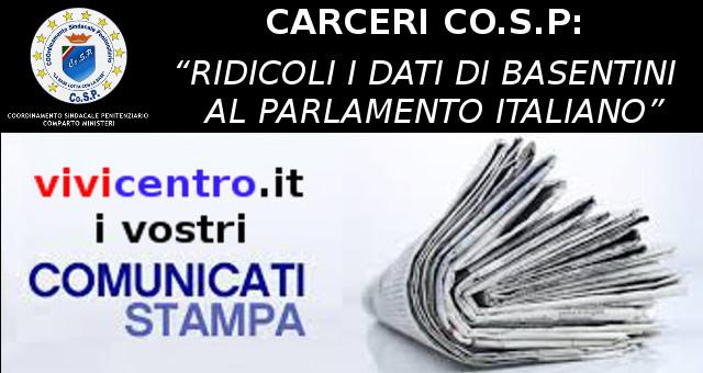 Carceri co s p ridicoli i dati di basentini al for Lavorare al parlamento italiano