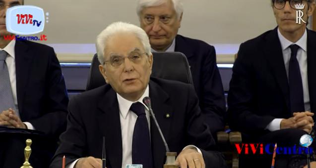 Intervento del Presidente Mattarella all'Assemblea del Consiglio Superiore della Magistratura