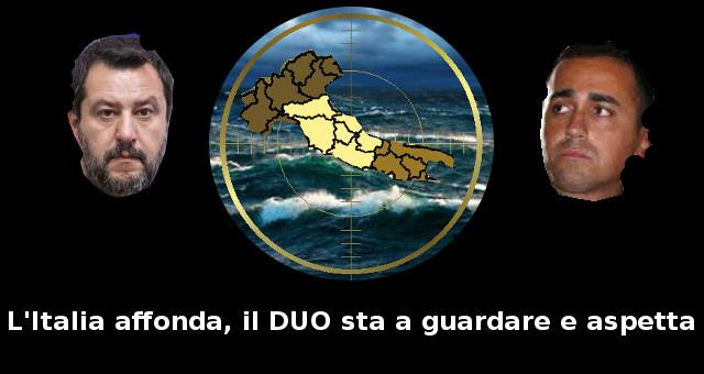 L'Italia affonda, il DUO sta a guardare e aspetta