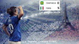 La 'Tripleta' Cristiana Girelli (foto da suo FB)