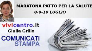 Giulia Grillo, MARATONA PATTO PER LA SALUTE 8-9-10 LUGLIO