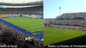 Mondiali femminili di calcio - Stadio di Parigi e Stadio La Mosson di Montpellier