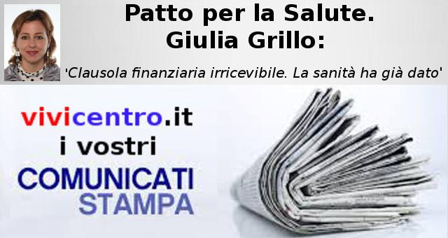 Patto per la Salute. Giulia Grillo
