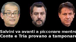 Salvini va avanti a picconare mentre Conte e Tria provano a tamponare