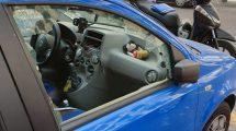 auto danneggiata parcheggiatori abusivi foto free facebook