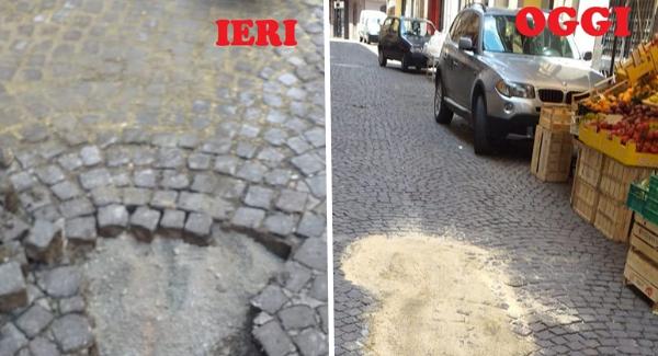 interventi ripristino castellammare strada foto free facebook