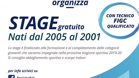 Calcio a 5-Fenix Ischia, stage per ragazzi dal 2001 al 2005