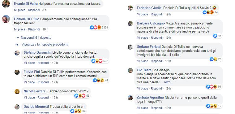 Alcuni commenti al post di Saviano sul Carabiniere ucciso