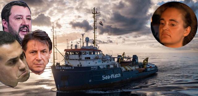 Carola Rackete, Salvini, Di Maio, Conte, Sea Watch 3