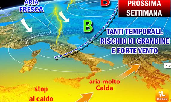 Meteo-8-14 luglio 2019 - temporali
