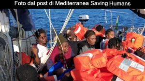Naufraghi salvati da Alex Mediterranea 4 luglio 2019