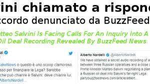 Salvini chiamato a rispondere sull'accordo denunciato da BuzzFeed News