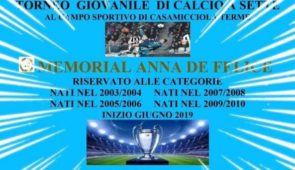 """Ischia- 7^ """"Memorial Anna De Felice"""", martedì 18 il via alle competizioni !"""