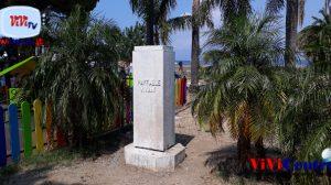 Castellammare, basamento busto di Viviani in villa comunale