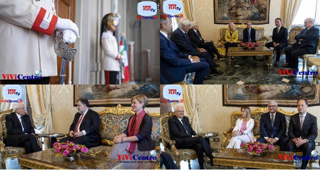 Consultazioni del 280819 di Mattarella con i Gruppi Parlamentari, incontri del mattino