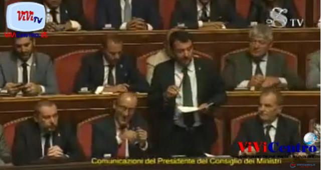 Discorso del capo della Lega Salvini Premier al Senato, Martedì 20 Agosto 2019