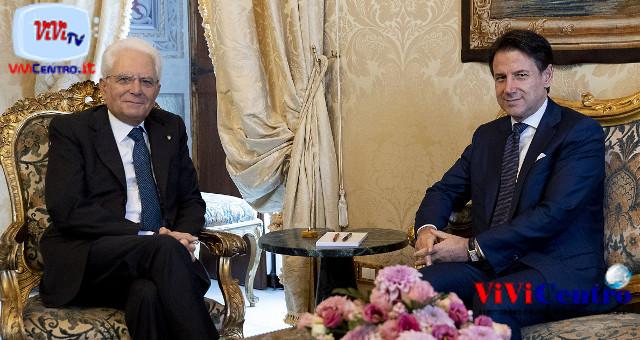 Palazzo del Quirinale 290819, Il Presidente della Repubblica Sergio Mattarella con il Prof. Giuseppe Conte