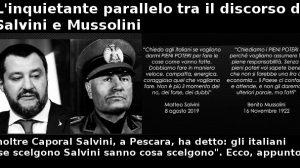Parallelo richieste di Salvini con quelle di Mussolini