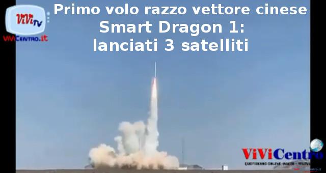 Primo volo razzo vettore cinese Smart Dragon 1, lanciati 3 satelliti