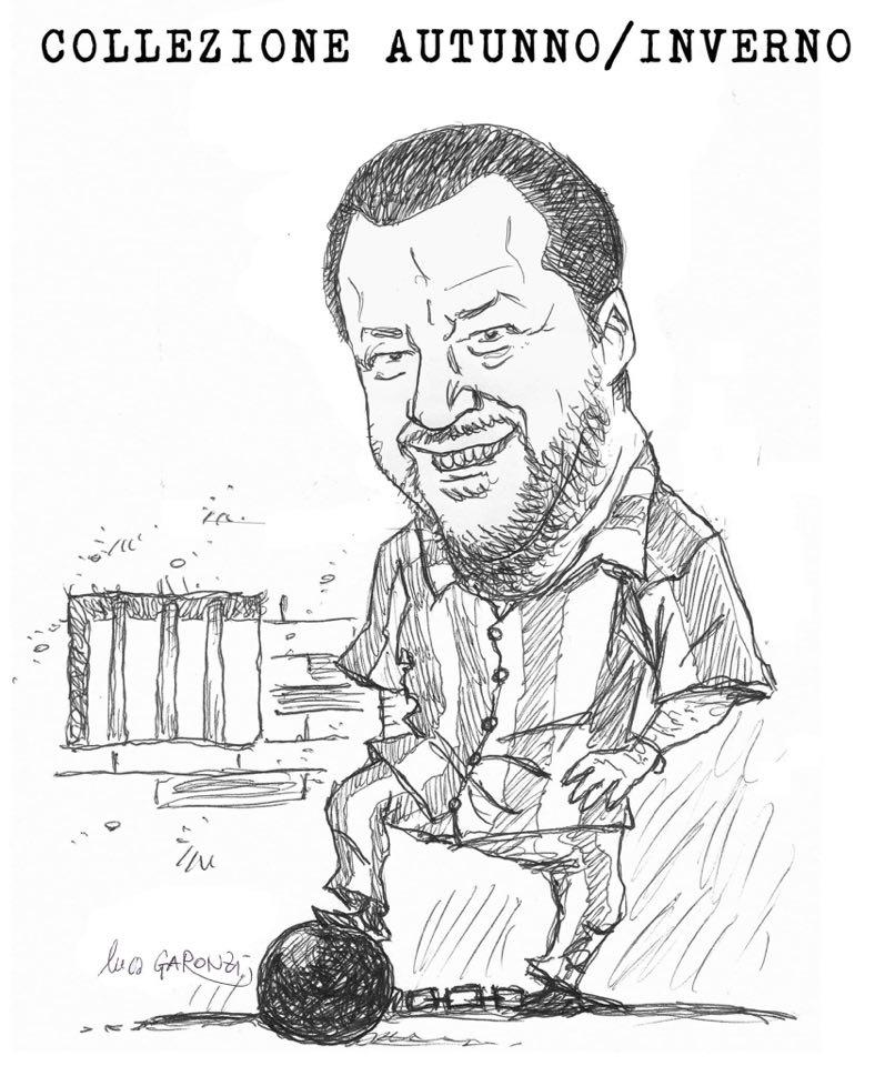 Salvini galeotto (vignetta di Luc Garcon)