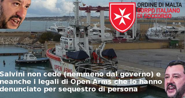 Salvini non cede (nemmeno dal governo) e neanche i legali di Open Arms