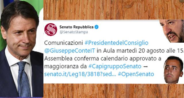 Seduta Senato su mozione sfiducia a Conte del 130819