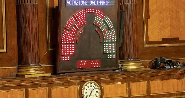 Tabellone Senato dopo la votazione del 130819 con il NO alla mozione Salvini e CD (foto da twitter Senato)