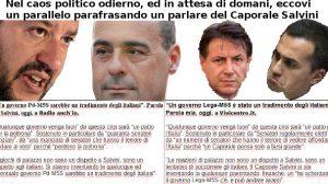 Un possibile parallelo parafrasando un parlare del Caporale Salvini
