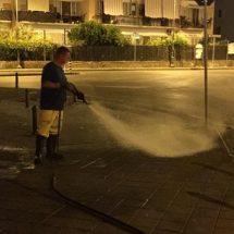 pulizia strada Nocera Inferiore foto free sindaco Manlio Torquato