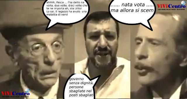 Eduardo commenta Salvini alias, Salvini in casa Cupiello