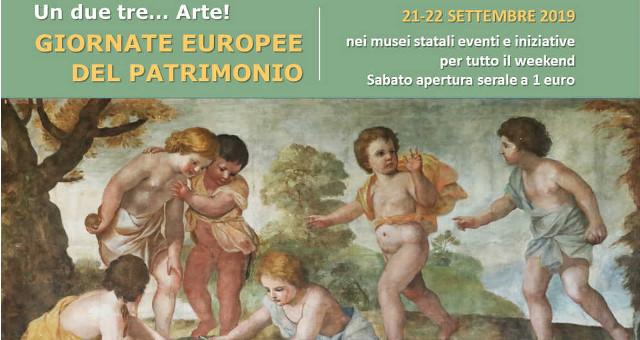 Giornate Europee del Patrimonio 2019, locandina dal ministero