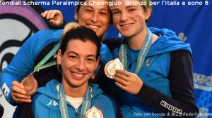 ITALIA Bronzo fioretto femminile squadra_1 Foto con licenza di BIZZI/FederScherma