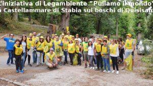 """L'iniziativa di Legambiente """"Puliamo il mondo"""" a Castellammare di Stabia sui boschi di Quisisana"""