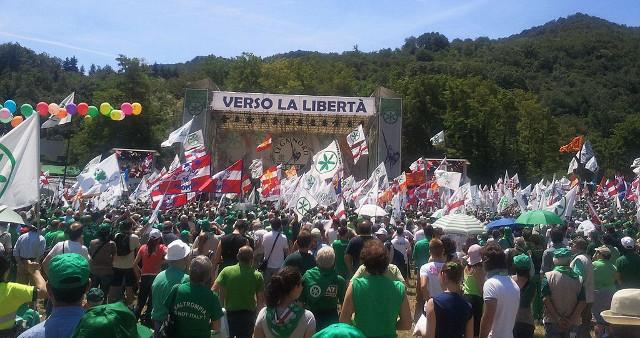Pontida Raduno Lega Nord (foto free del 2011 d'archivio)