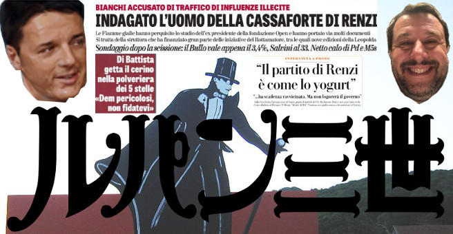Prime Pagine del 200919 Renzi, Salvini e Arsenio Lupin