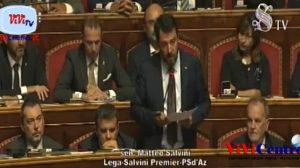 Senato 100919 Dichiarazioni di Salvini