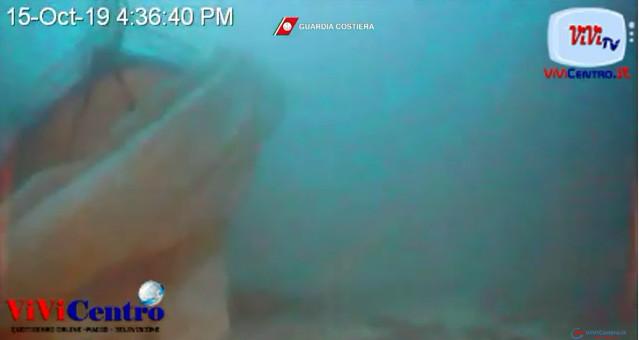 Ricerca dei sommozzatori della Guardia Costiera, con il ROV, del relitto naufragio di Lampedusa