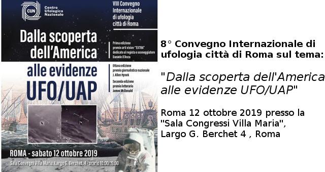 UFOLOGIA Convegno a Roma 121019