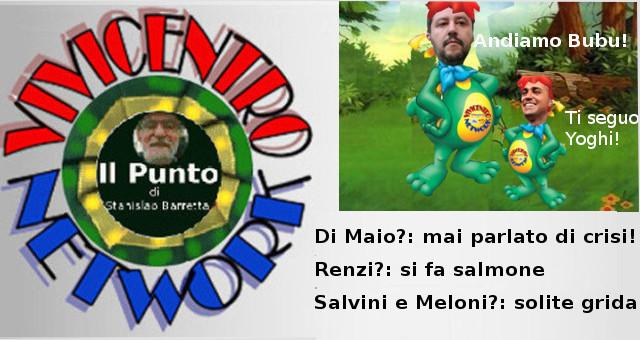 Il Punto di Stanislao Barretta del 041219 su Di Maio, Renzi, Salvini e Meloni
