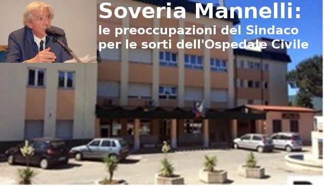 Ospedale Soveria Mannelli, le preoccupazioni del sindaco