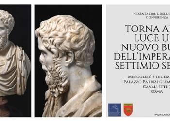 Settimio Severo, ritrovato il busto dell'Imperatore. Conferenza/Convegno