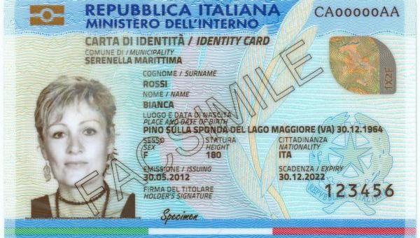 CIE, Carta Identità Elettronica (foto free CC0)