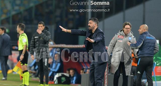 Gattuso a bordo campo, Napoli