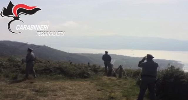 I Carabinieri intervengono contro il bracconaggio nello Stretto
