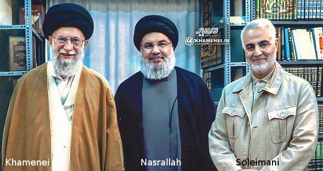 Nasrallah, Khamenei e Soleimani (CC BY 4.0)