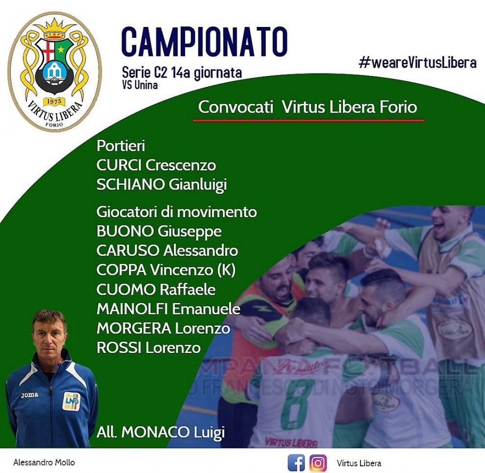 C5, Serie C2- Virtus Libera in campo per il riscatto, c'è l'UniNa C5